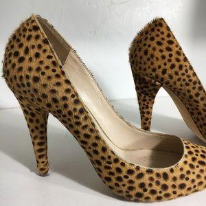 Loeffler Randall Cheetah Print Cow Hair heels